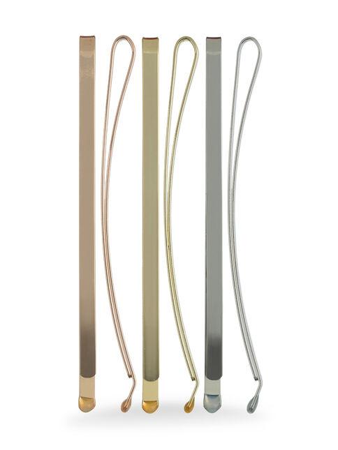 Large Metallic Bobby Pins - Pk 6