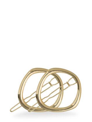 Metallic Geometric Round Clips - Pk 2