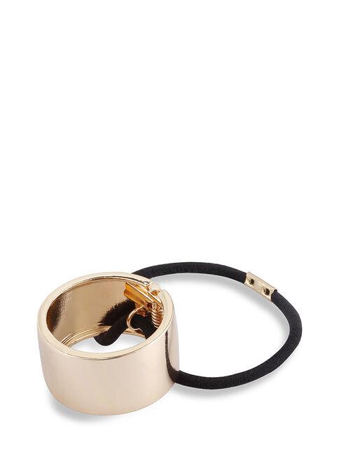 Gold Metal Ponytail Cuffs