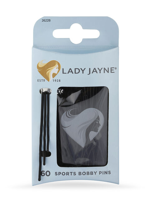 Black Super Hold Contoured Bobby Pins - 60 Pk