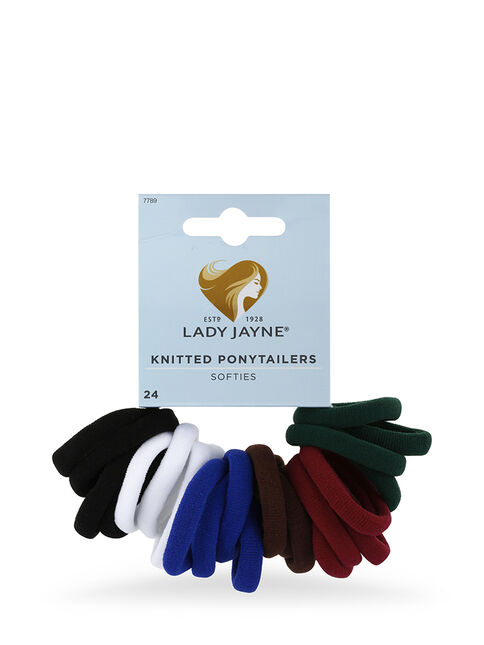 School Soft Knitted Ponytailers - Pk 24