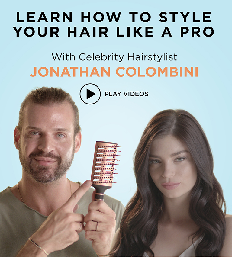 Learn how to style your hair like a pro with Celebrity Hairstylist, Jonathan Colombini