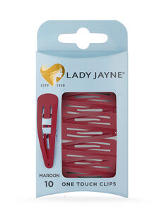 One Touch Clips Maroon - 10pk
