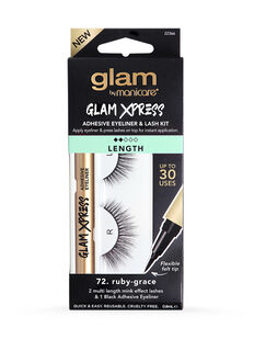 72. Ruby-Grace Glam Xpress Adhesive Eyeliner & Lash Kit