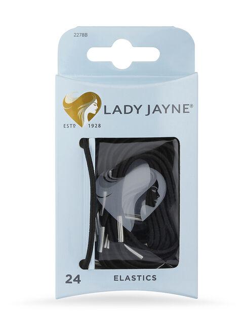 Black Elastics - 24 Pk
