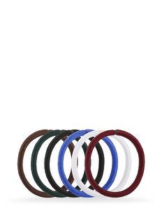 Assorted Snagless Thick Elastics  - Pk 10