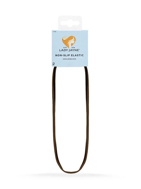 Brown Elastic Non-Slip Headband - 2 Pk