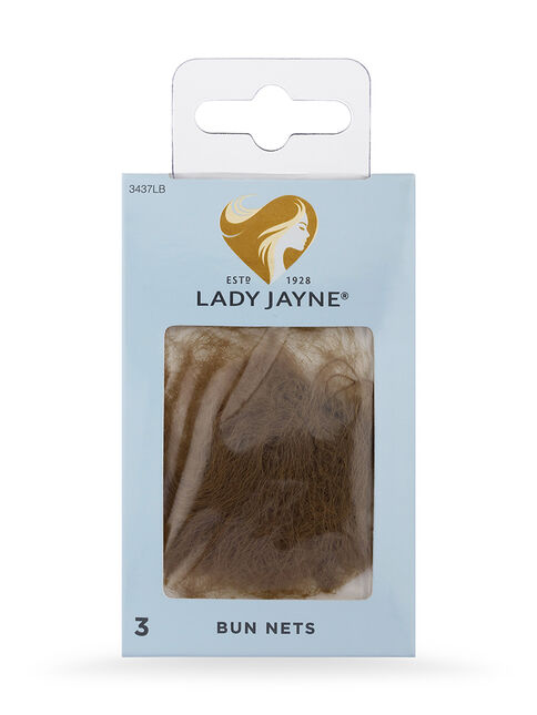 Light Brown Bun Nets - 3 Pk
