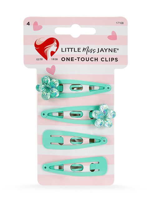 Flower Gem One Touch Clips 4 Pack