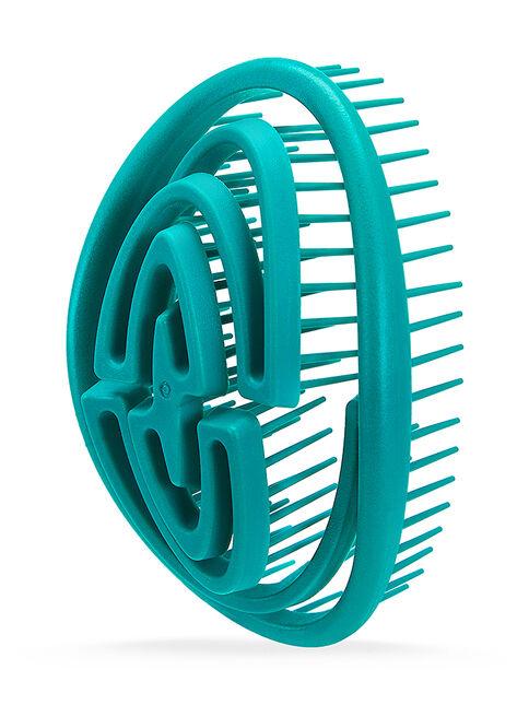 Turquoise Green 3D Flexi-Glide Detangling Brush