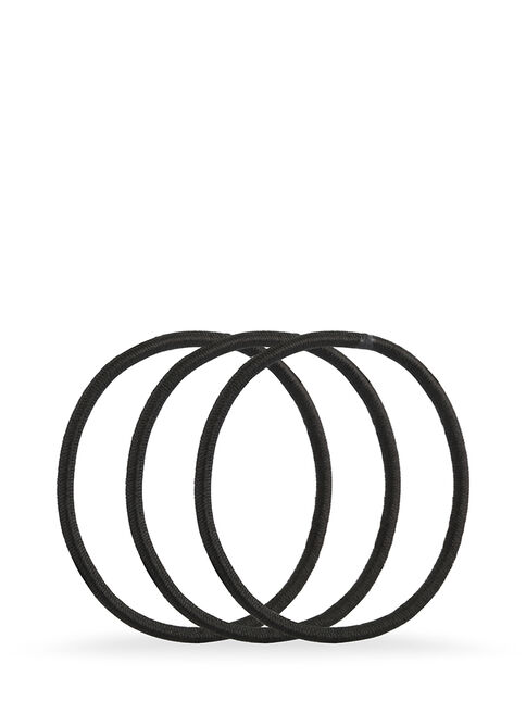 Black Snagless Elastics - Pk18