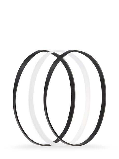 Black Snagless Elastomer Elastics - Pk50