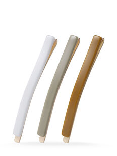 White Slim Slides - 3 Pk