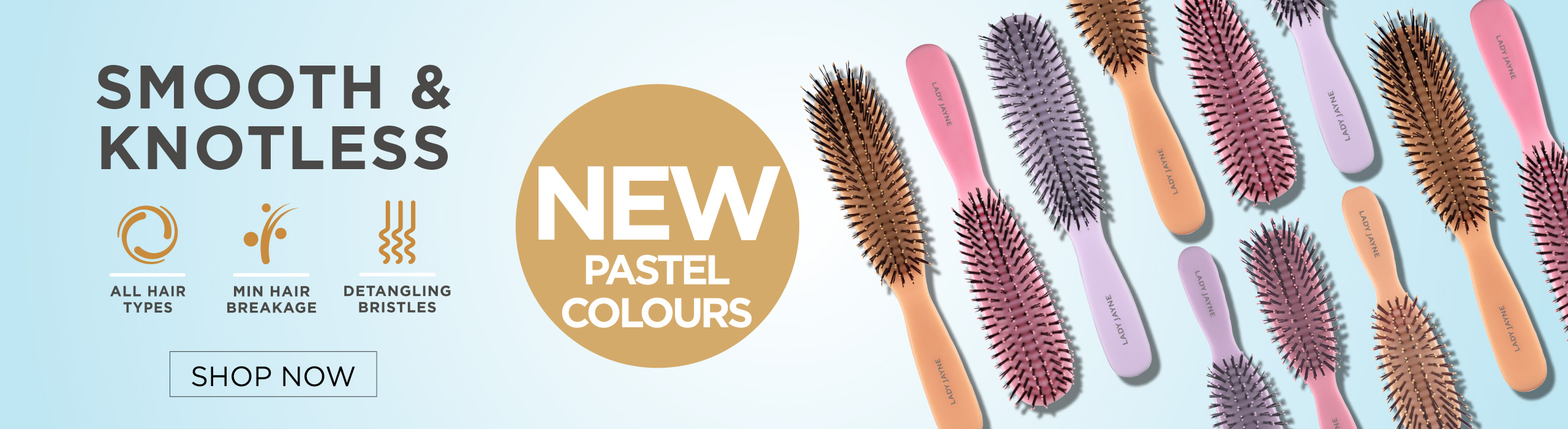 Pastel Smooth & Knotless Brushes